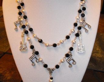 Rock & Roll Rosary Necklace Set