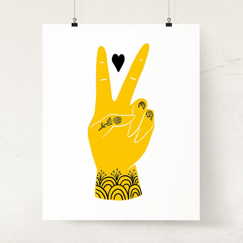 Colorful Peace Sign Wall Decor Image Collection - Art & Wall Decor ...