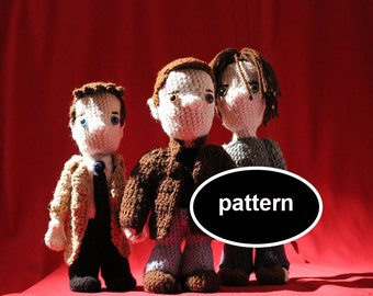 Pattern for Sam, Dean, and Castiel from Supernatural - 3 Full Size Amigurumi