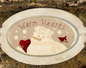 Sew Cherished Mat Warm Hearts