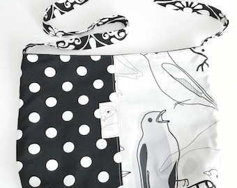 Black and White, Birds Tote Bag