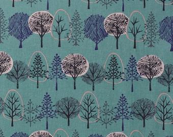 Hokkoh Japanese tree fabric in cotton linen canvas - 1/2 YD