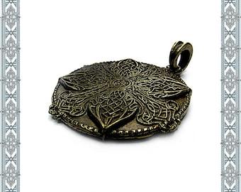 Necklace pendant Celtic Amulet antique brass pendant celtic jewelry Germanic jewelry Antique Jewelry Medallion