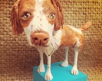 Customize your dog sculpture, dog art, pet portrait, pet loss gift, custom pet portrait