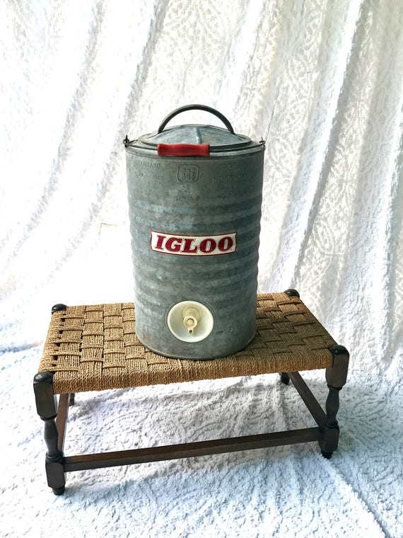 Top Vintage Igloo Metal Water Cooler 3 Gallon Galvanized Water ZH58