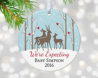 Pregnancy Reveal Gift New Baby Reveal To Grandparents Reveal Baby Announcement Were Expecting Ornament Future Grandma Gift Expecting Parents