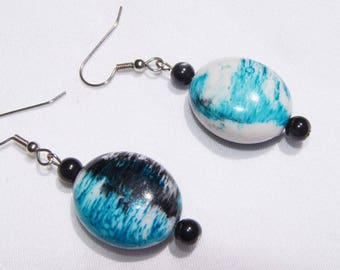 Abstract print earrings