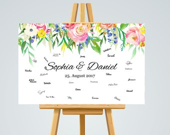 Guestbook POSTER personalized wedding #blumen in A3