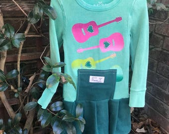 Size 4 Green Guitar Dress low waisted...warm and comfy!