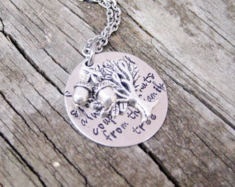 HAND STAMPED SISTER Jewelry - Sister Jewelry- Sister to sister we will always be, a couple of nuts from the family tree!