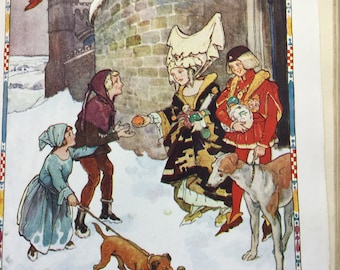 Vintage Original collectible children's book, 1926 PLAYBOX  Annual with beautiful COLOUR plates and ILLUSTRATIONS