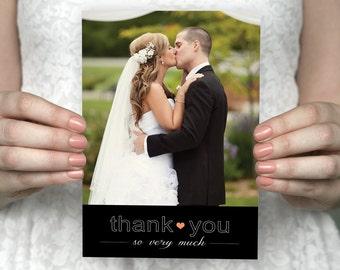 DIY printable custom photo wedding thank you cards - Annabelle & Grant.