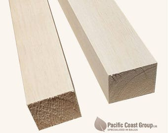 "Balsa Wood Blocks 36"" (915mm) Long - Various sizes"