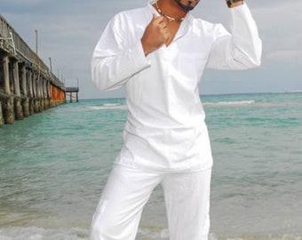 YACO Organic Cotton 1 Pocket Mandarin Collar Long Sleeves Men's Tunic