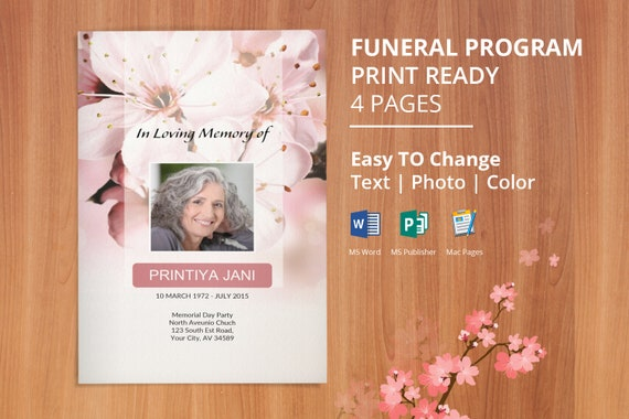 how to create a funeral program in word