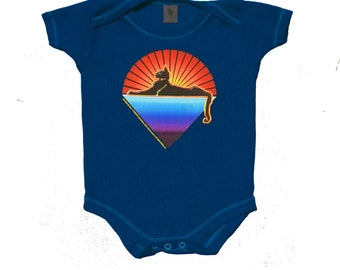Jerry Garcia - Cats Under the Stars Baby snap up bodysuit! Classic Stanley mouse artwork. Grateful Dead, Dead and Co.creeper/romper/infant
