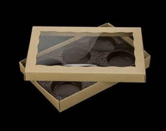 Kraft Brown Standard 6 Cavity Cookie Box