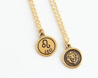 Leo Zodiac Necklace - Leo Pendant - Personalized Zodiac Necklace - Custom Zodiac Jewelry -  Astrology Pendant - Gift For Daughter