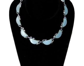 Vintage 1950s Light Blue Thermoset Necklace