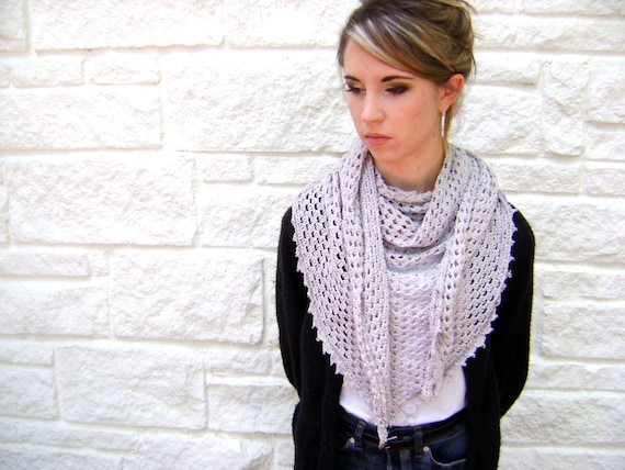 Triangle Shawl Or Scarf Pattern Easy Crochet Pattern For The