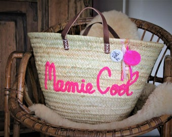 Basket for the beach, market, everyday decor. Patterns for all ages.  Customization in knitting, hand stitched. Idea