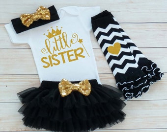 Little Sister Shirt, Take Home Outfit, Baby Sister Outfit, Little Sister Bodysuit, Baby Girl Outfit, Little Sister Outfit, Baby Girl Gift,