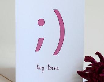 Valentine's Day Card - Single Card - Hey Lover
