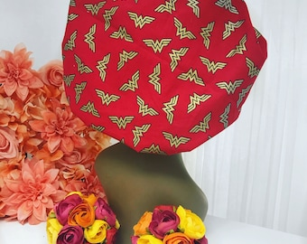 Satin Lined Bonnets Wonder Woman