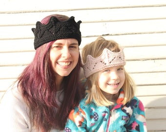 Knit crowns for kids and adults