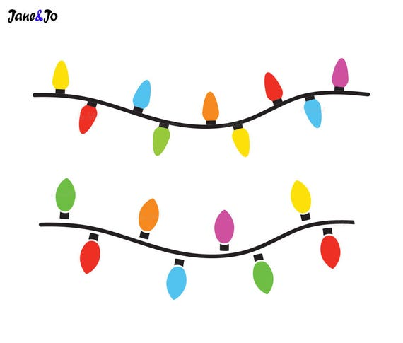 String Of Xmas Lights Clipart: Christmas Lights SVGString Of Christmas Lights SvgChristmas