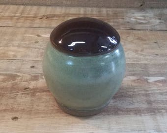 Cremation Urn - Stoneware Cremains Jar - READY to SHIP - HORIZON - Up to 30 lbs