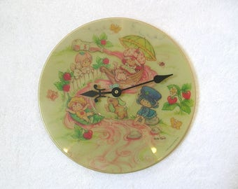 Strawberry Shortcake Record Clock Made From Vinyl Picture Disc Album