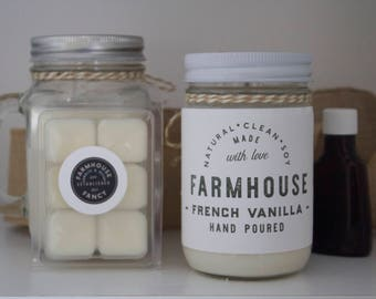 French Vanilla Soy Candle, Soy Wax, Natural Candle, Strong Scent Candle, Candle Wax, Farmhouse Fancy, Farmhouse Fancy Girl, Popular Candle