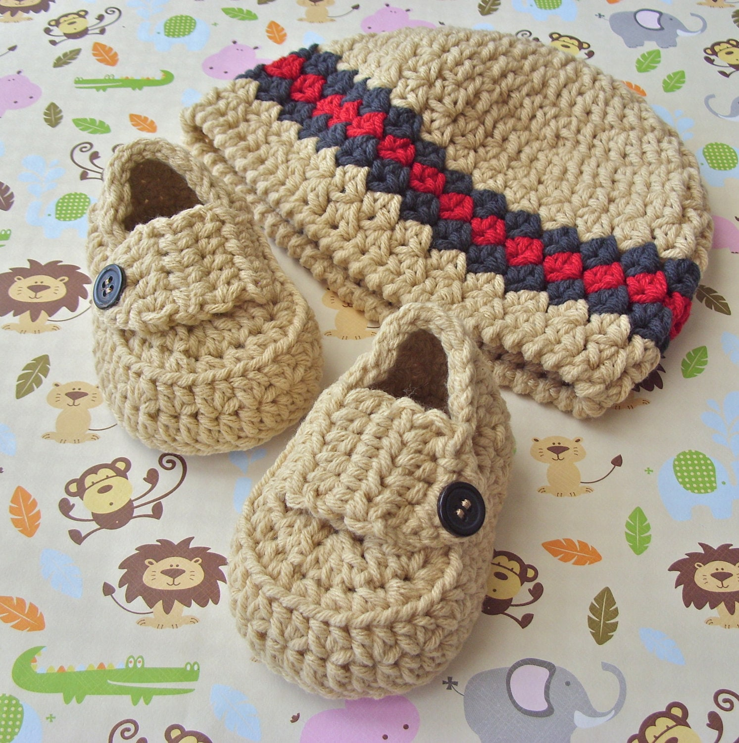 Crochet Beanie PATTERN Baby Booties Baby Loafers Baby Crochet