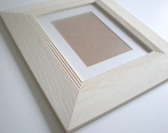 "Picture frame 13x19"" Photo frame 33x48cm modern rustic frame wood frame craft wide frame  RusticFrameShop"