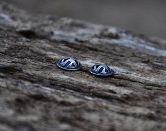 Studs, Posts, Stud Earrings, Oxidized Silver Studs, Black Silver Posts, Oxidized Silver Posts, Black Silver Studs, Oxidized Stud Earrings