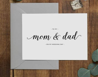 Wedding Card To My Mom + Dad On My Wedding Day, To My Father Wedding Card, To My Mom Card, To My Dad, Parents Wedding Card, Wedding Note, K3