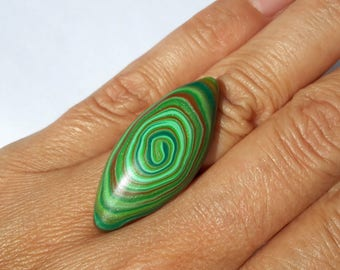 Polymer Clay Ring, Fashion Ring, Modern Ring, Abstract Ring