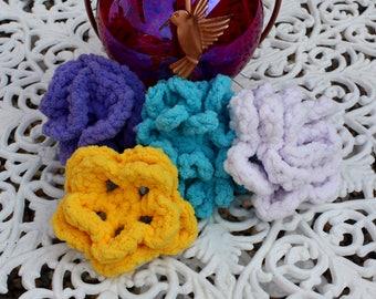 Flower Power Reusable Water Ballons pdf PATTERNS (digital download), rose, carnation, begonia, chrysanthemum, crochet