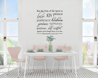 "Vinyl Wall Art Decal | ""The Fruit of the Spirit"" | Galatians 5:22-23"