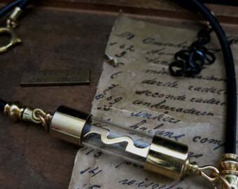 Gold audio fuse pendant necklace, audiofile jewelry, HIFI amplifier components, stereo record musician, unisex gold plate steampunk choker