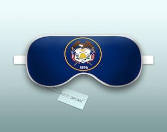 Sleep Mask Utah Flag - Mormon State, Sleeping Mask, Comfortable Eye mask, light-blocking mask. Proud to be an American!