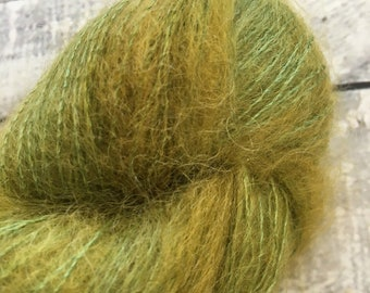 Variegated Hand Dyed Yarn-MR CARRISFORD-Hairy Toad-50 gram mohair yarn-72 Kid Mohair, 28 Silk-459 yards-Toad Hollow Yarn-Indie Dyed Yarns