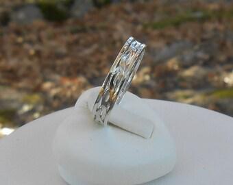 Twisted wedding band, alliance silver 950 wedding band custom ring silver 950, ring, women gift