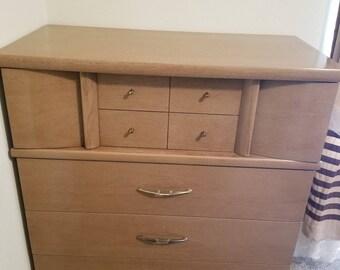 Kroehler Mid Century 1960's High Boy Dresser