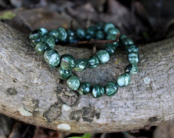 FREE SHIPPING Seraphinite crystal bead bracelet