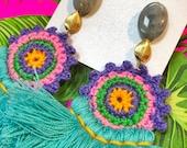 Crochet Earrings by Genie...