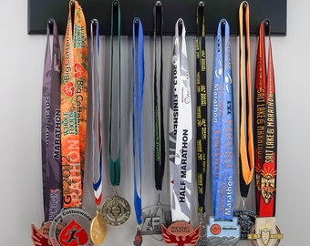 "Black Sport Medal display ""Run Mommy, Run"""