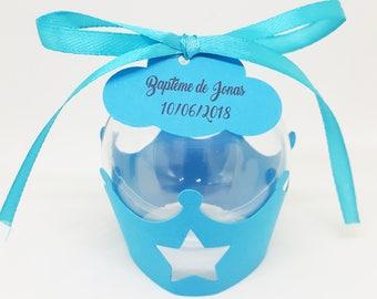 box dragees-baptism-crown-prince-Princess-cloud star - custom