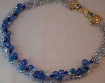 Beadwoven Toppo Inspiration Swarovski Crystal Necklace Free Shipping USA/Special Order